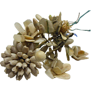 Vintage Shell Flower Bunch