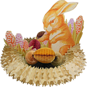 Vintage Fold-Out Easter Bunny in the Basket of Eggs Centerpiece