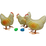 Three Laying Hens Easter Toy by East Unlimited Inc. New York