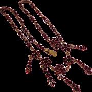 Victorian (1837-1901)  Bohemian Garnet Fringe Necklace