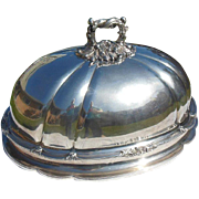 Large Silver Plate Turkey/Meat Dome