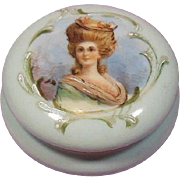 Hand Painted Portrait French Porcelain Trinket/Keepsake Box