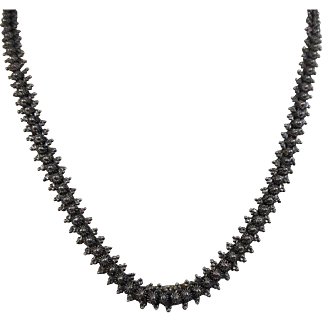Victorian 1837-1901 Sterling Silver Book Chain Necklace