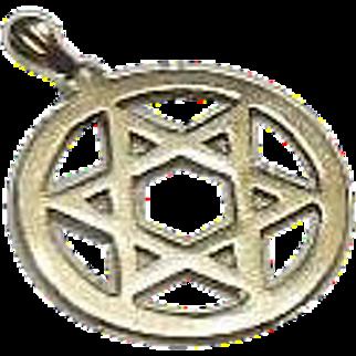9 Carat Gold English Hallmarked Star of David Pendant/Charm/Keepsake