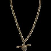 English Vintage 9 Carat Gold Neck Chain, Hallmarked