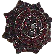 Vintage Star Shaped Bohemian Garnet Brooch