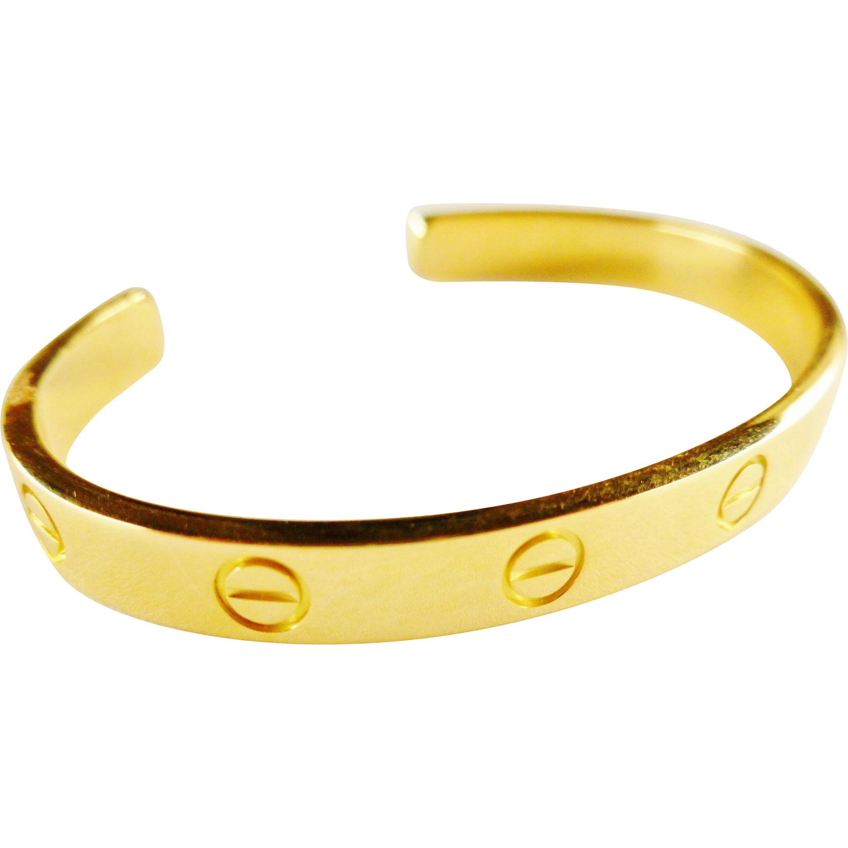 Vintage Cartier 18k Gold Love Bangle Bracelet Size 16 Chelsea Estate Collection Ruby Lane