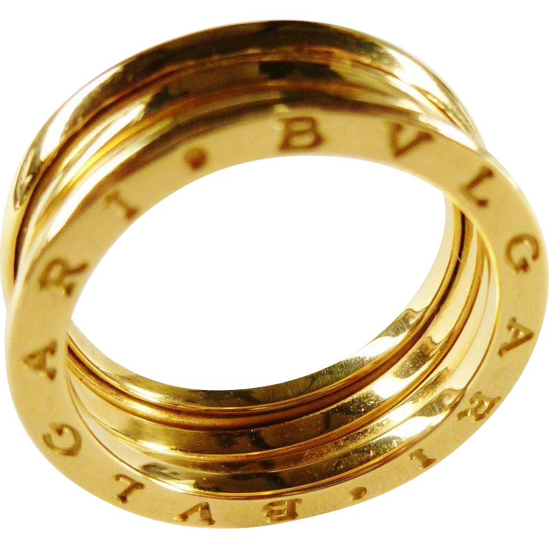 vintage bulgari bzero1 18k yellow gold band ring