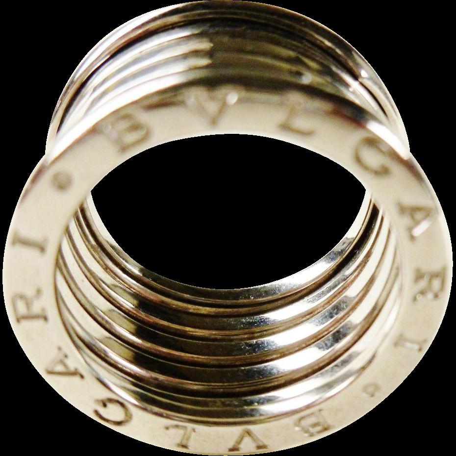 vintage bulgari bzero1 18k white gold 5 band ring