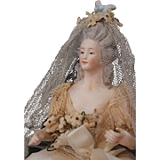 Exquisite Bisque Half Figure Bride