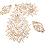 Lot of Antique Lace Appliqués and Jabot