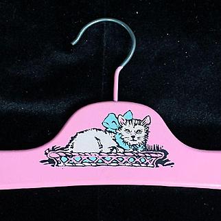 Vintage Cat Clothes Hanger