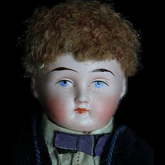"""All Original 10"""" Bisque Shoulderhead Scottish Boy"""