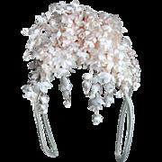 Pretty Vintage Floral Headdress for Doll