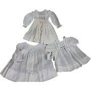 Three Vintage and Antique Dresses for Medium Size Dolls