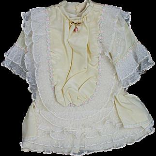 Pretty Yellow Silk Doll Dress with Underwear