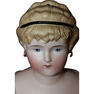 20 inch Tinted Bisque Lady with Elaborate Hair
