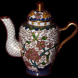 """31/4"""" Miniature Cloisonné Teapot for Doll"""