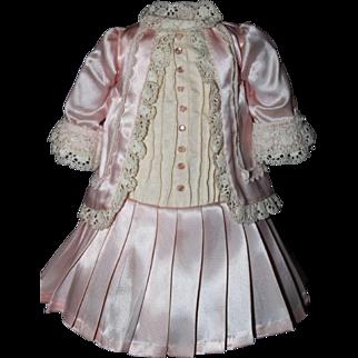 Delicate Pink Satin Dress