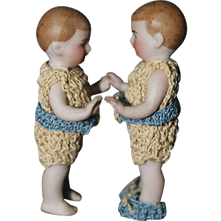23/4 Inch Early German Bisque Twins