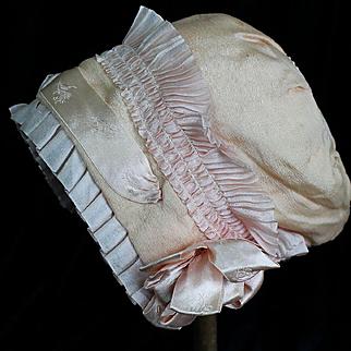 Lovely Vintage Silk Bonnet