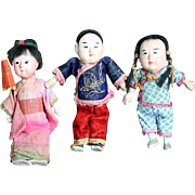 A Trio of Darling Vintage Oriental Dolls