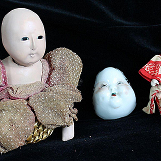 There All Original Vintage Oriental Dolls