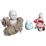 There All Original Vintage Oriental Dolls - Red Tag Sale Item