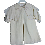 Cream Wool Coat for Doll