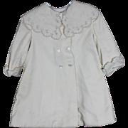 Lovely Cream Wool Coat for Larger Doll