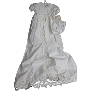 Fabulous Battenburg Christening Gown and Bonnet for Baby Doll