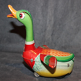 Colorful Tin Goose Toy