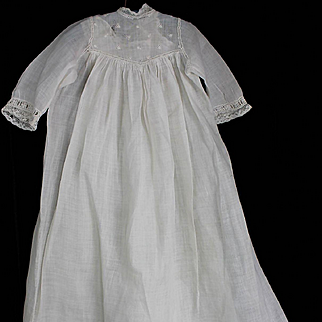 Antique Christening Gown and Slip for Smaller Doll