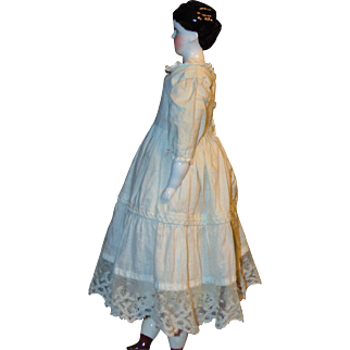 Antique Spill Curl China Doll