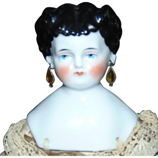 Antique China Doll with PIERCED EARS