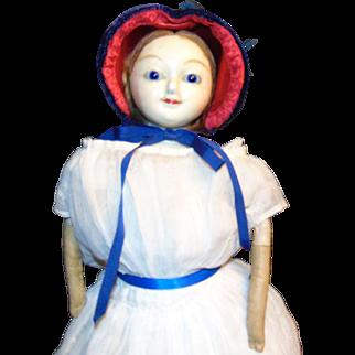 Antique Slit Wax English Doll