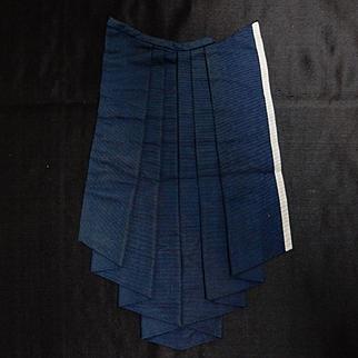 Antique pleated blue silk faille fabric dolls