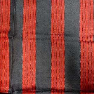 Antique deep bold silk stripe soft drape dolls 1
