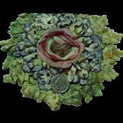 Vintage millinery flowers hat crown