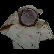 Antique Civil War era silk embroidered ribbon 2 yards dolls