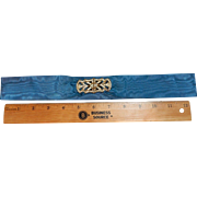 Antique Edwardian silk belt with rhinestone closure
