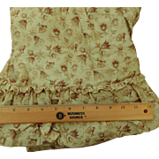 Antique roller print cotton ruffle dolls