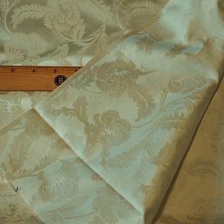 "Vintage silk damask fabric 36"" 8 yards wedding unused bridal"