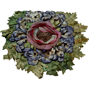 Vintage millinery flowers hat crown  to be removed 2.21.17