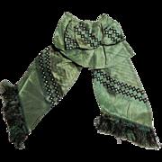 Ca 1860 Civil SWar era silk bow fringe trim dolls