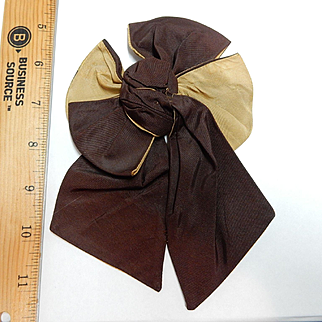 Antique 2 sided 2 color bow silk dolls