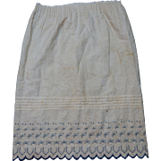 Antique blue and embroidery on white sweet dolls