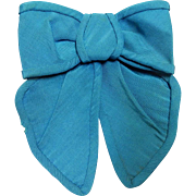 Antique Civil War era silk bow dolls  blue