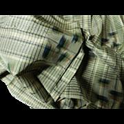 Antique unbelievable 1865 era silk fabric #2 iridescent