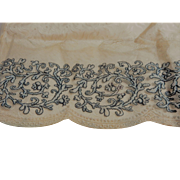 Antique re embroidered net lace trim dolls